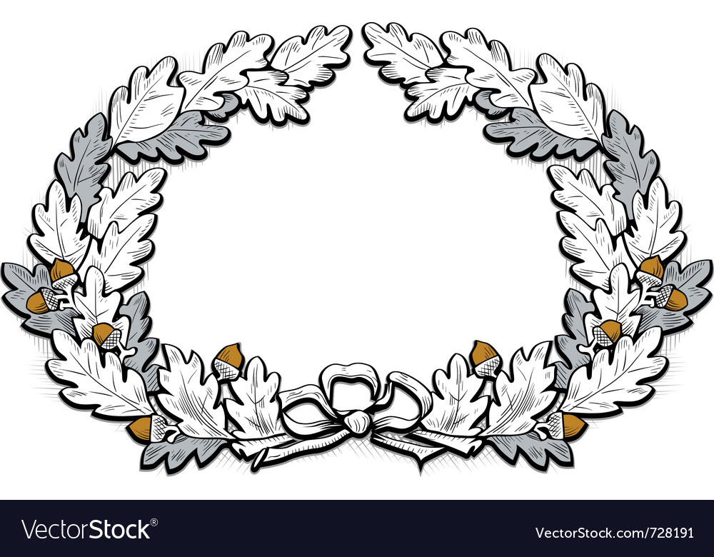 Acorn frame border vector | Price: 1 Credit (USD $1)