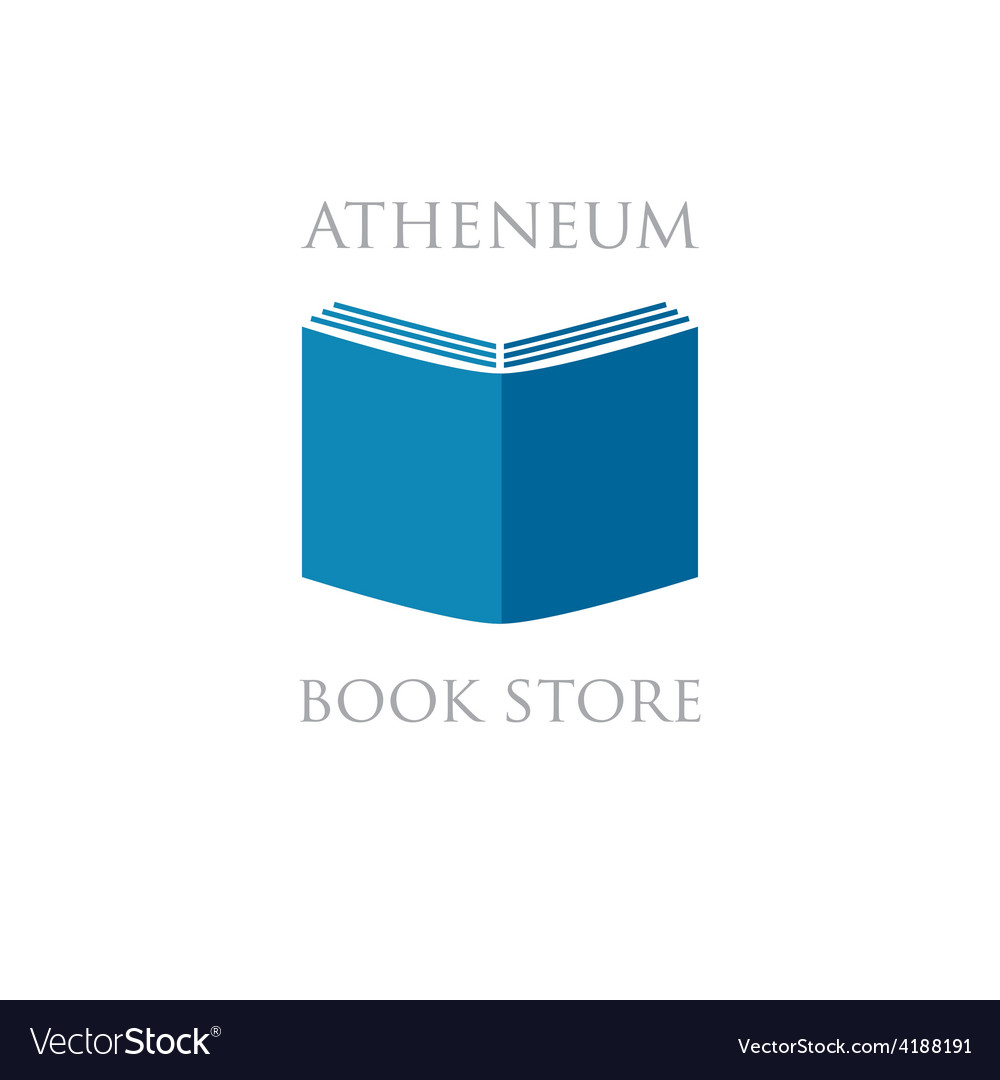Book store or library logo sign vector | Price: 1 Credit (USD $1)