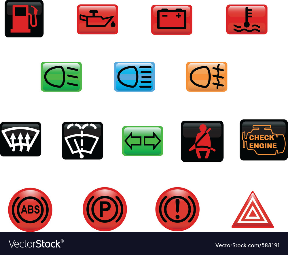 Car warning light vector | Price: 1 Credit (USD $1)