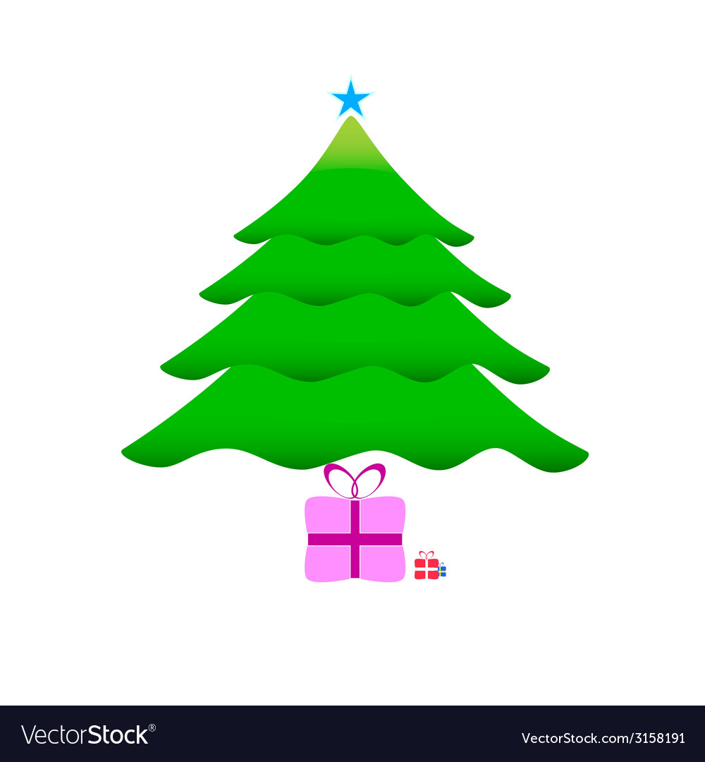Christmas tree with gifts vector | Price: 1 Credit (USD $1)