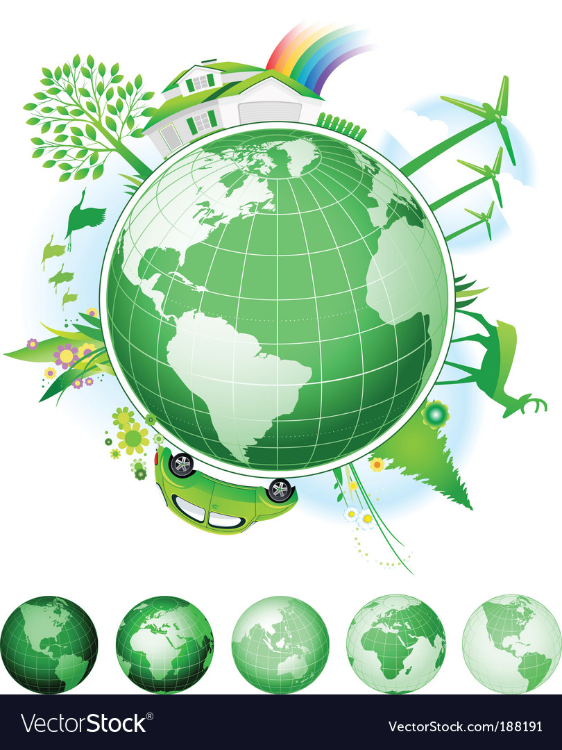 Global conservation concept vector | Price: 3 Credit (USD $3)