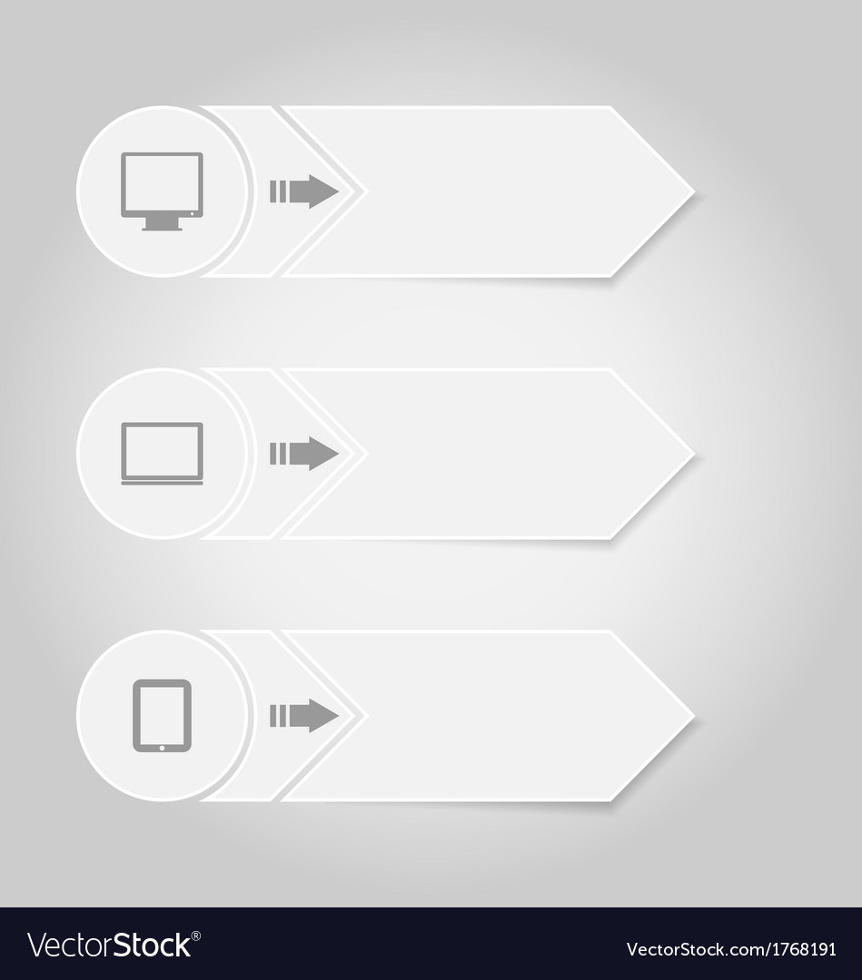 Infographic design template paper tags with vector | Price: 1 Credit (USD $1)