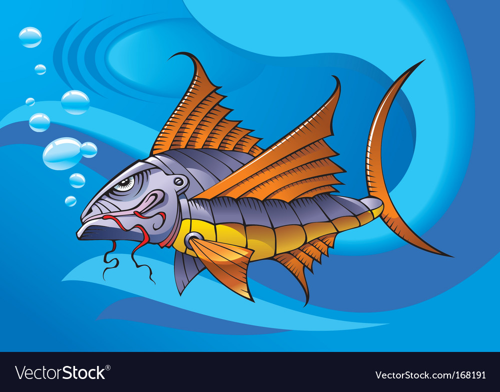 Mechanical fish vector | Price: 3 Credit (USD $3)