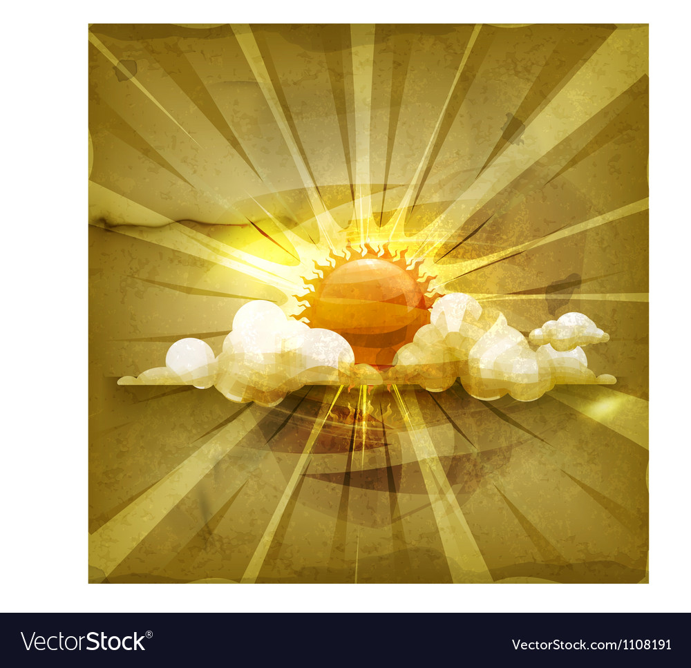 Sun old-style vector | Price: 1 Credit (USD $1)