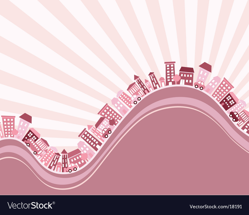Wavy street vector | Price: 1 Credit (USD $1)
