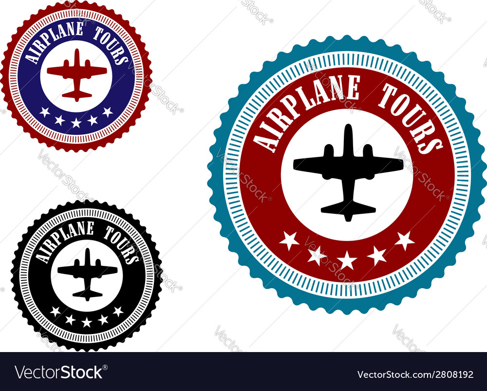 Aviation symbol with airplane vector | Price: 1 Credit (USD $1)