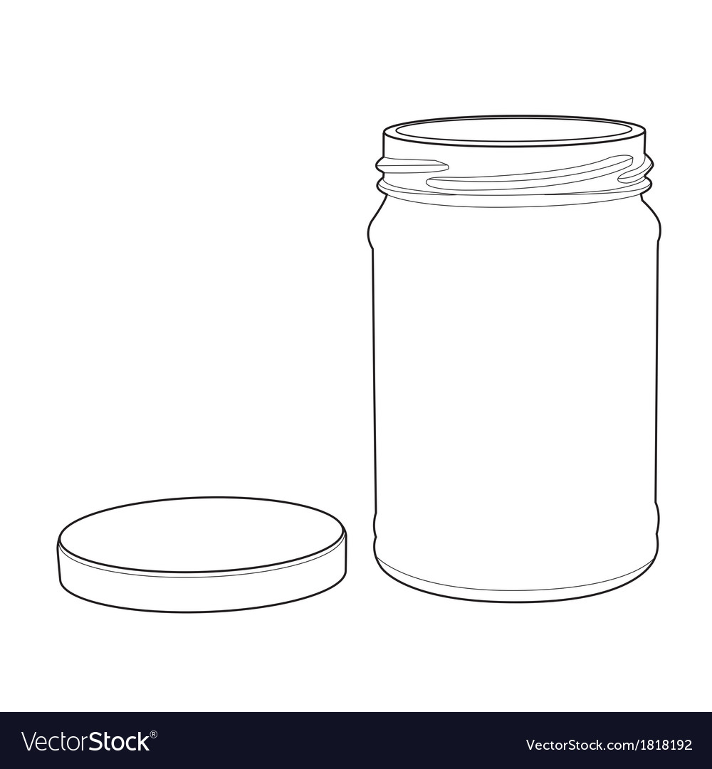 Bottle glass out line vector | Price: 1 Credit (USD $1)