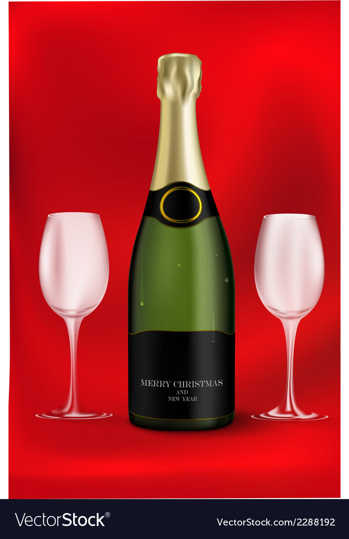 Bottle of champagne vector | Price: 1 Credit (USD $1)