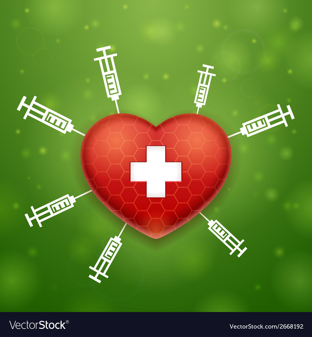 Heart and cross vector | Price: 1 Credit (USD $1)