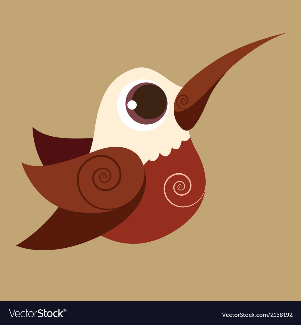 Hummingbird finger cute bird abstrac prehistoric vector | Price: 1 Credit (USD $1)