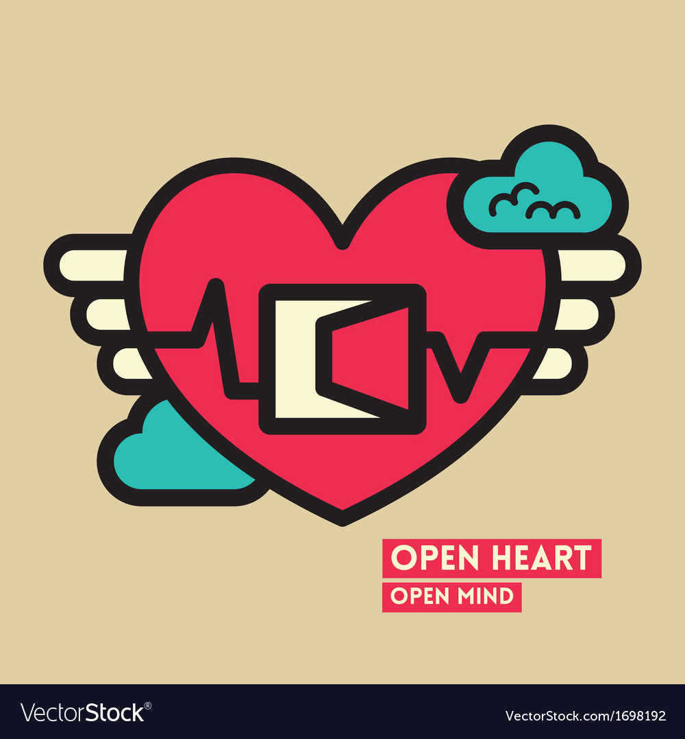 Open heart and mind freedom concept vector | Price: 1 Credit (USD $1)
