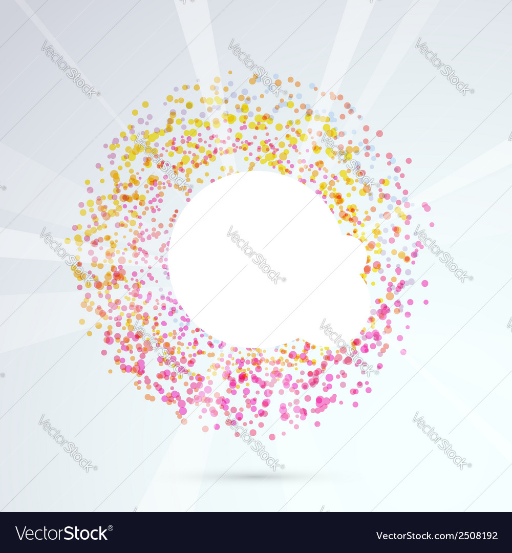 Particle bright circle design element vector | Price: 1 Credit (USD $1)
