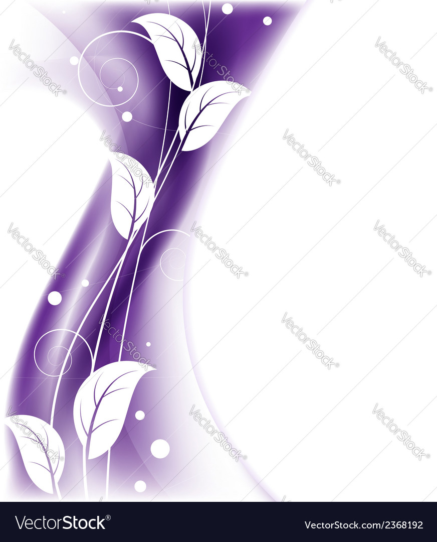 Purple floral background vector | Price: 1 Credit (USD $1)