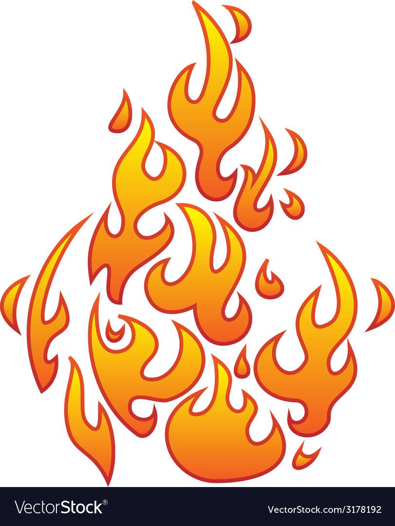 Retro flame vector | Price: 1 Credit (USD $1)
