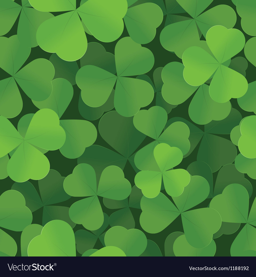 Shamrock seamless background pattern vector | Price: 1 Credit (USD $1)