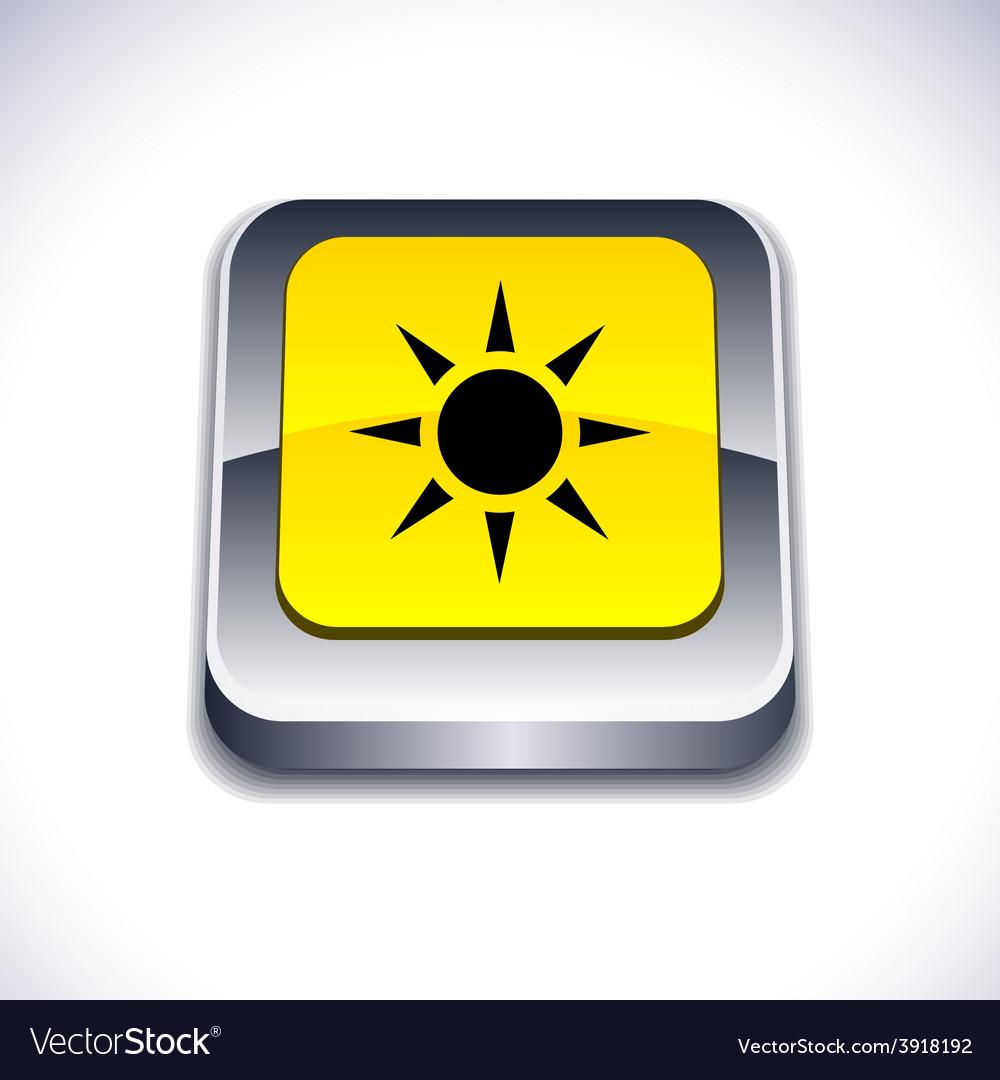 Sun 3d button vector | Price: 1 Credit (USD $1)