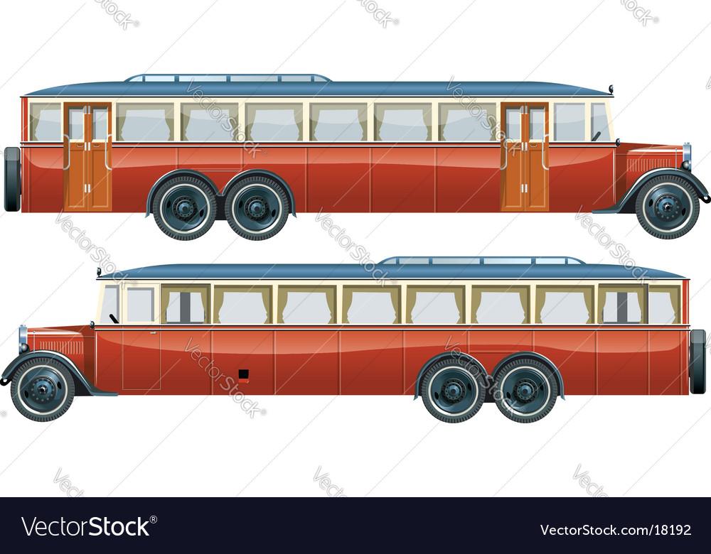 Vintage bus liner 30-s vector | Price: 3 Credit (USD $3)