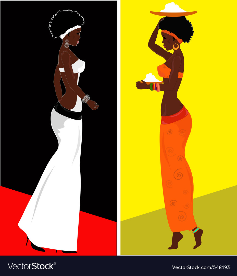 African woman vector | Price: 1 Credit (USD $1)