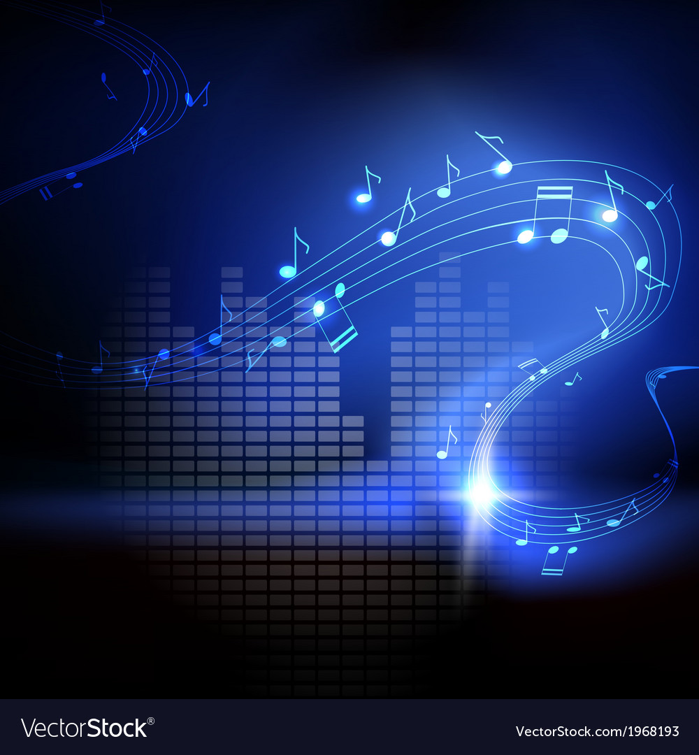 Background with musical notes vector | Price: 1 Credit (USD $1)