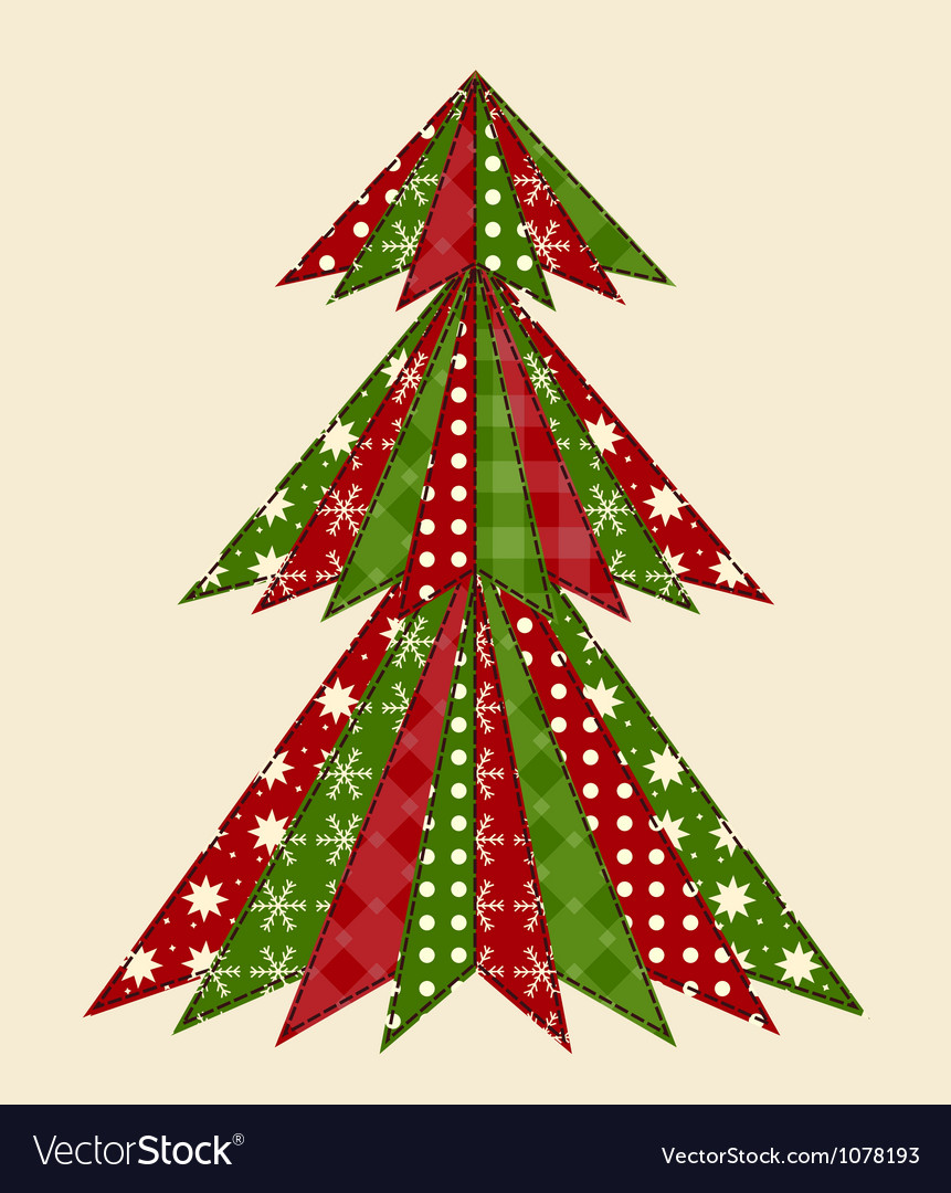 Christmas tree for scrapbooking 1 vector | Price: 1 Credit (USD $1)
