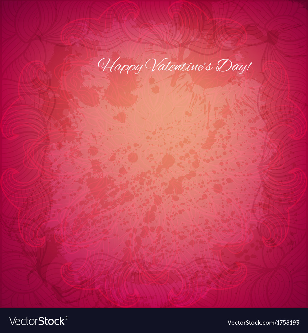 Happy valentines day background vector | Price: 1 Credit (USD $1)