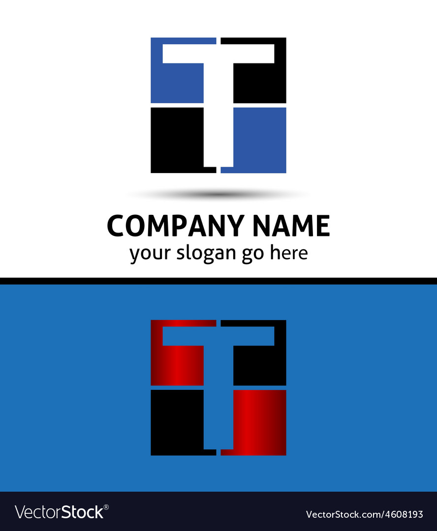Letter t logo symbol template elements vector | Price: 1 Credit (USD $1)