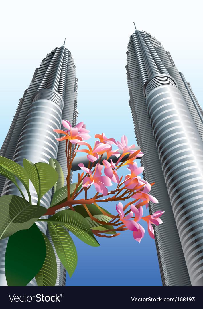 Petronas twin towers vector | Price: 3 Credit (USD $3)