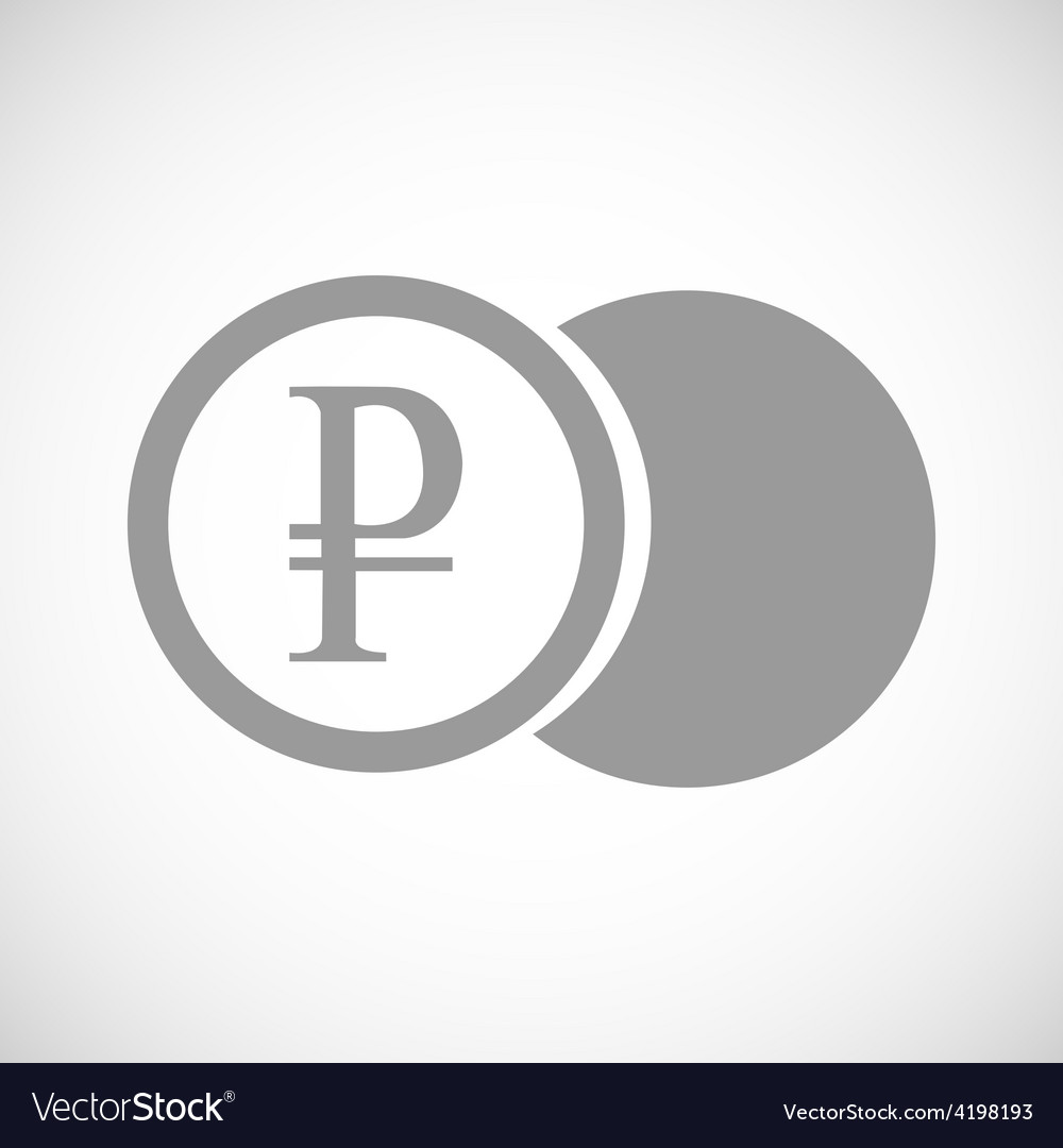 Rouble coin black icon vector | Price: 1 Credit (USD $1)