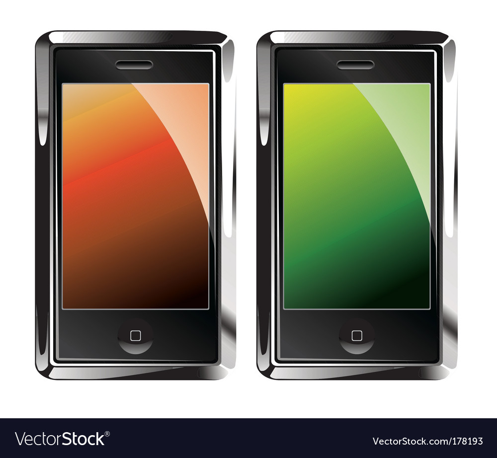 Touch screen smartphones vector | Price: 3 Credit (USD $3)