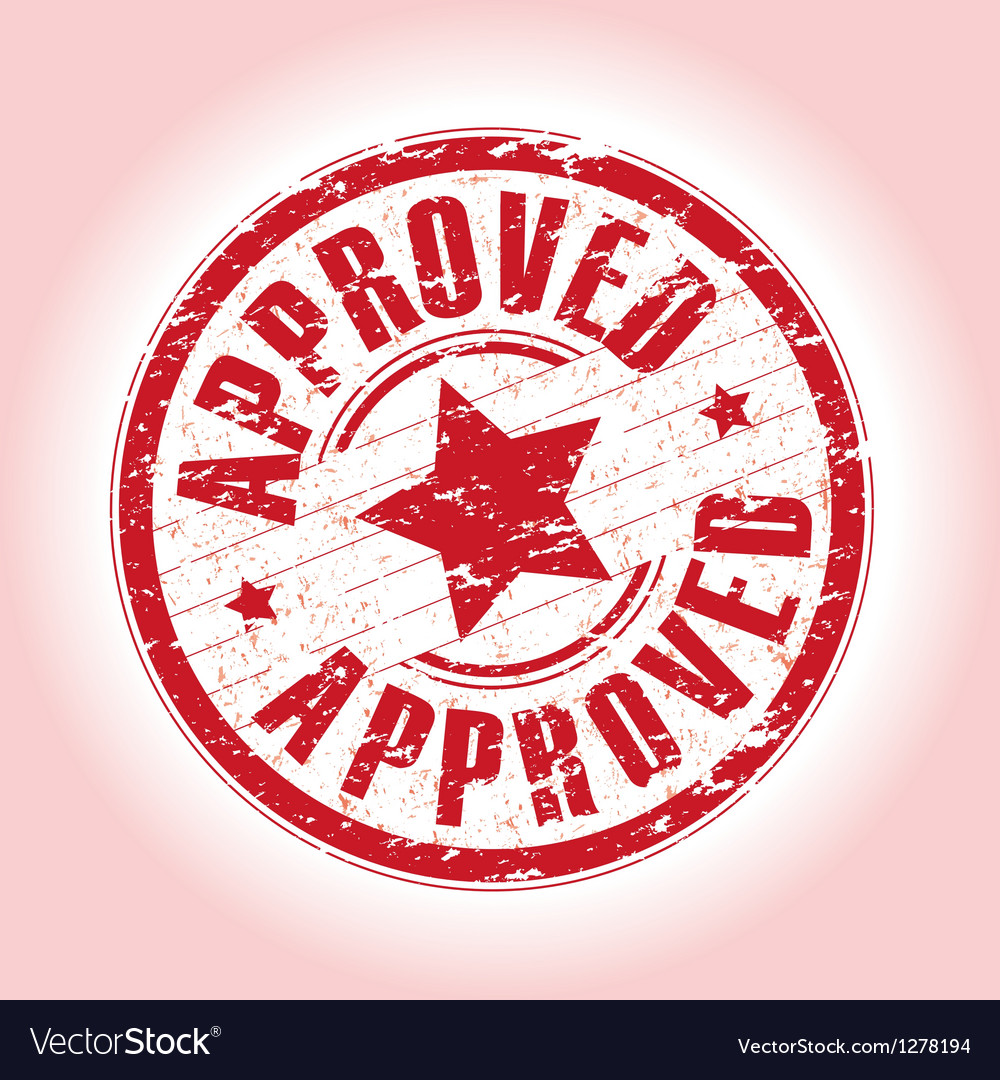 Approved red vector | Price: 1 Credit (USD $1)