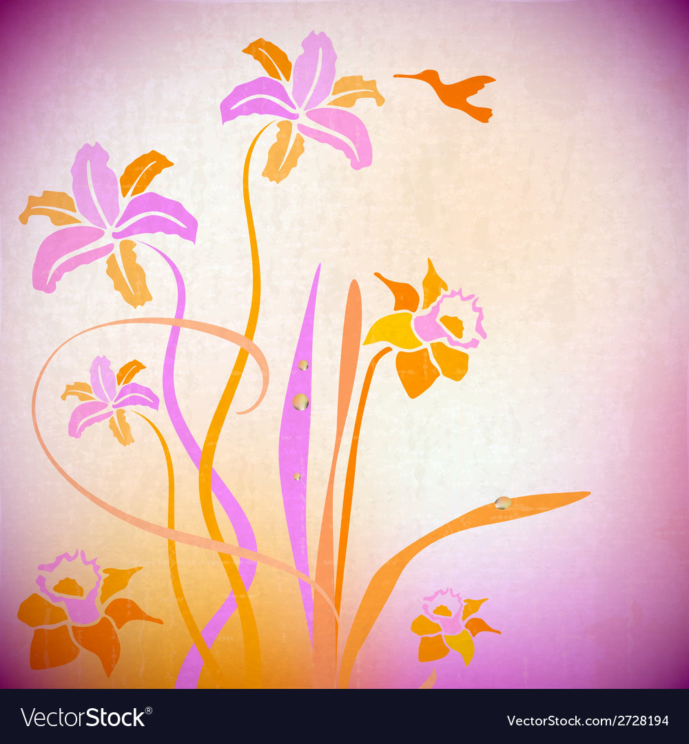 Artistic autumn backdrop background bouquet vector | Price: 1 Credit (USD $1)