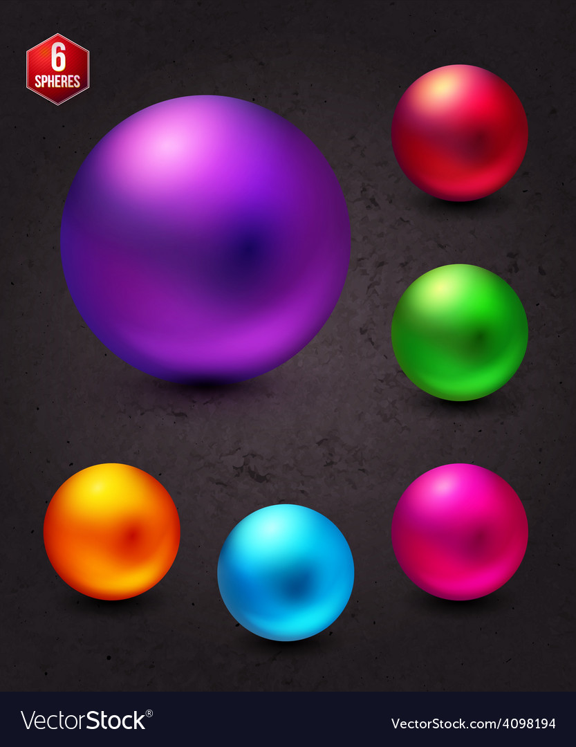 Attractive shiny colorful spheres on abstract gray vector | Price: 1 Credit (USD $1)