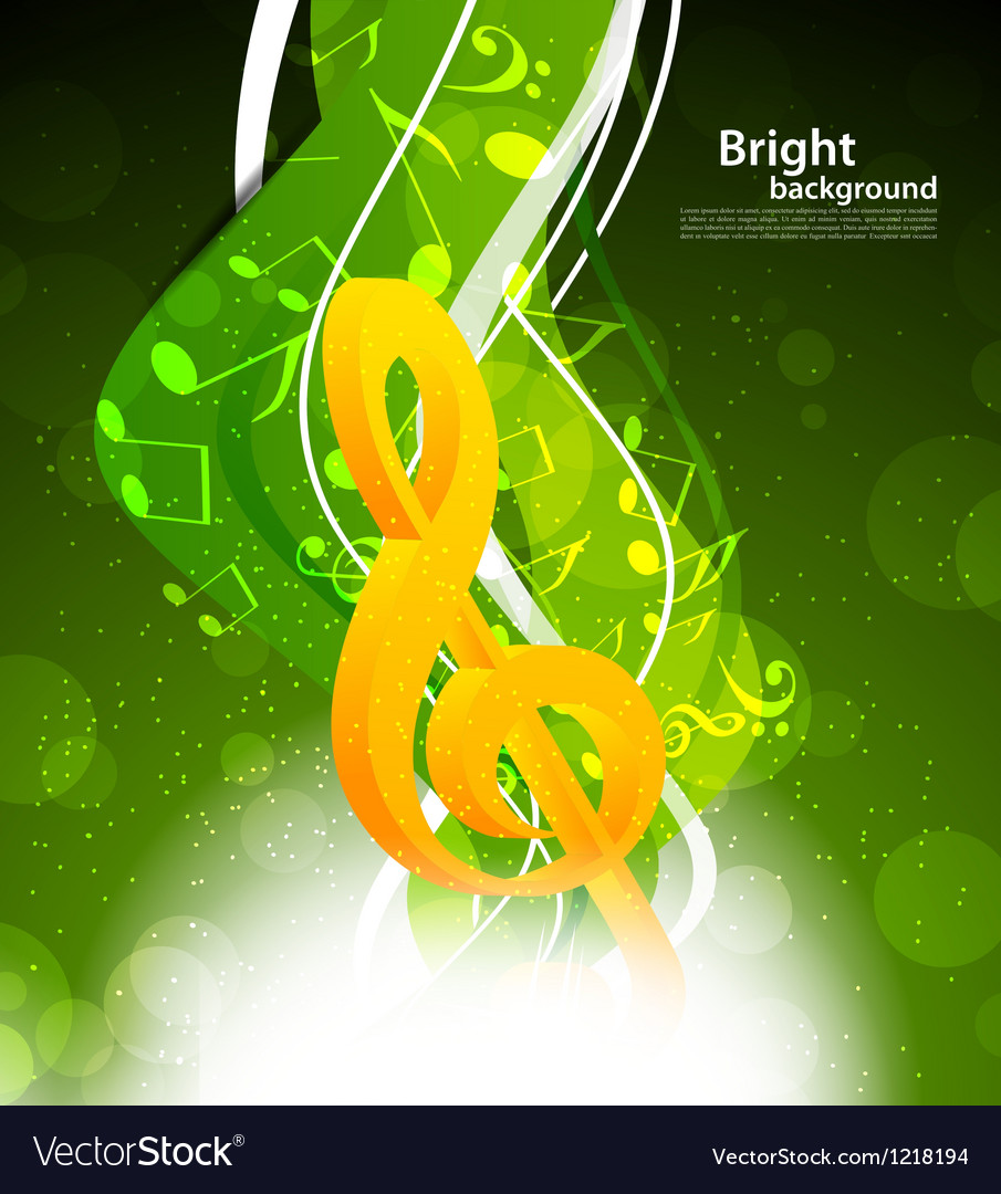 Background with g-clef vector | Price: 1 Credit (USD $1)