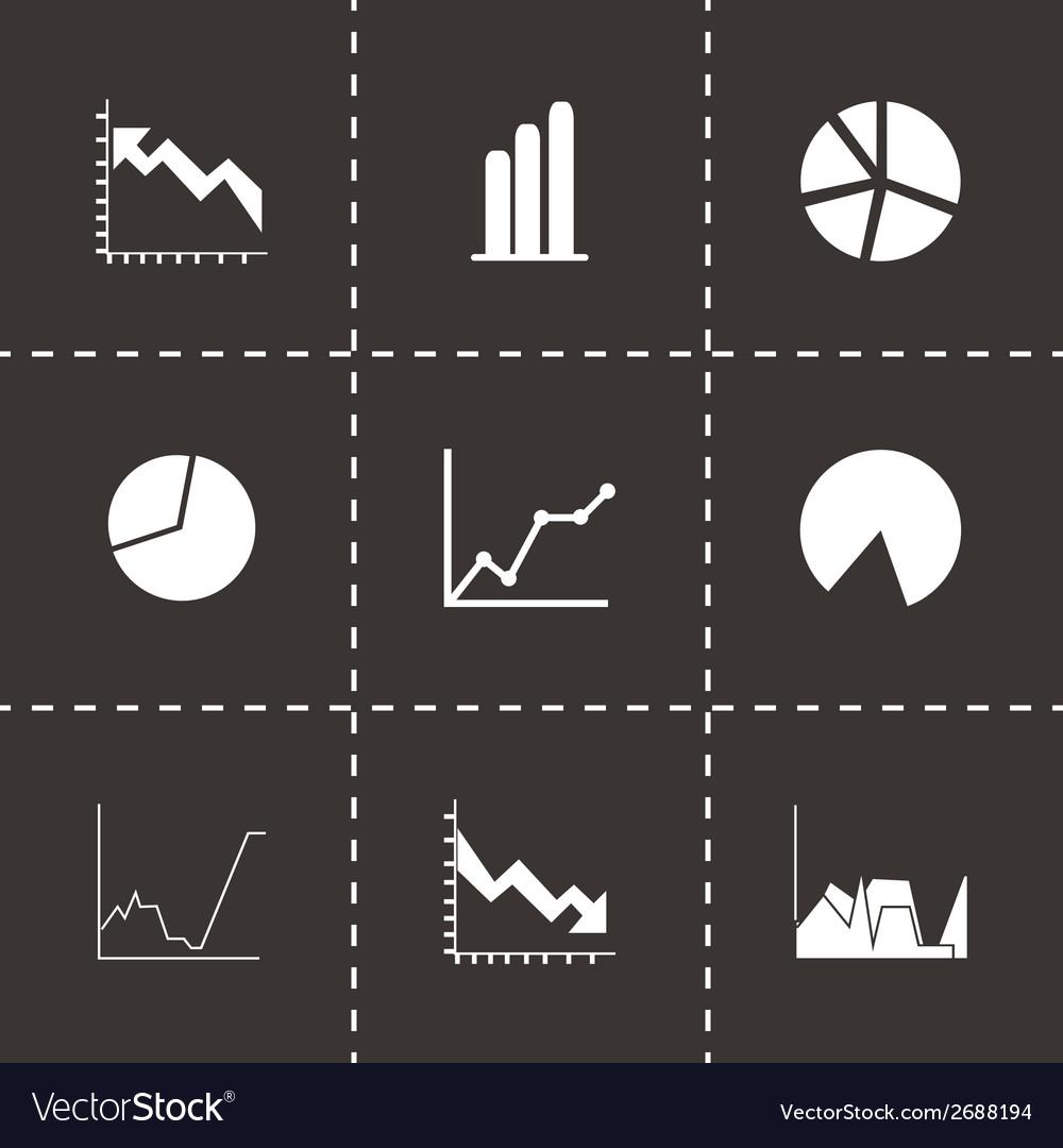 Black diagrams icons set vector   Price: 1 Credit (USD $1)