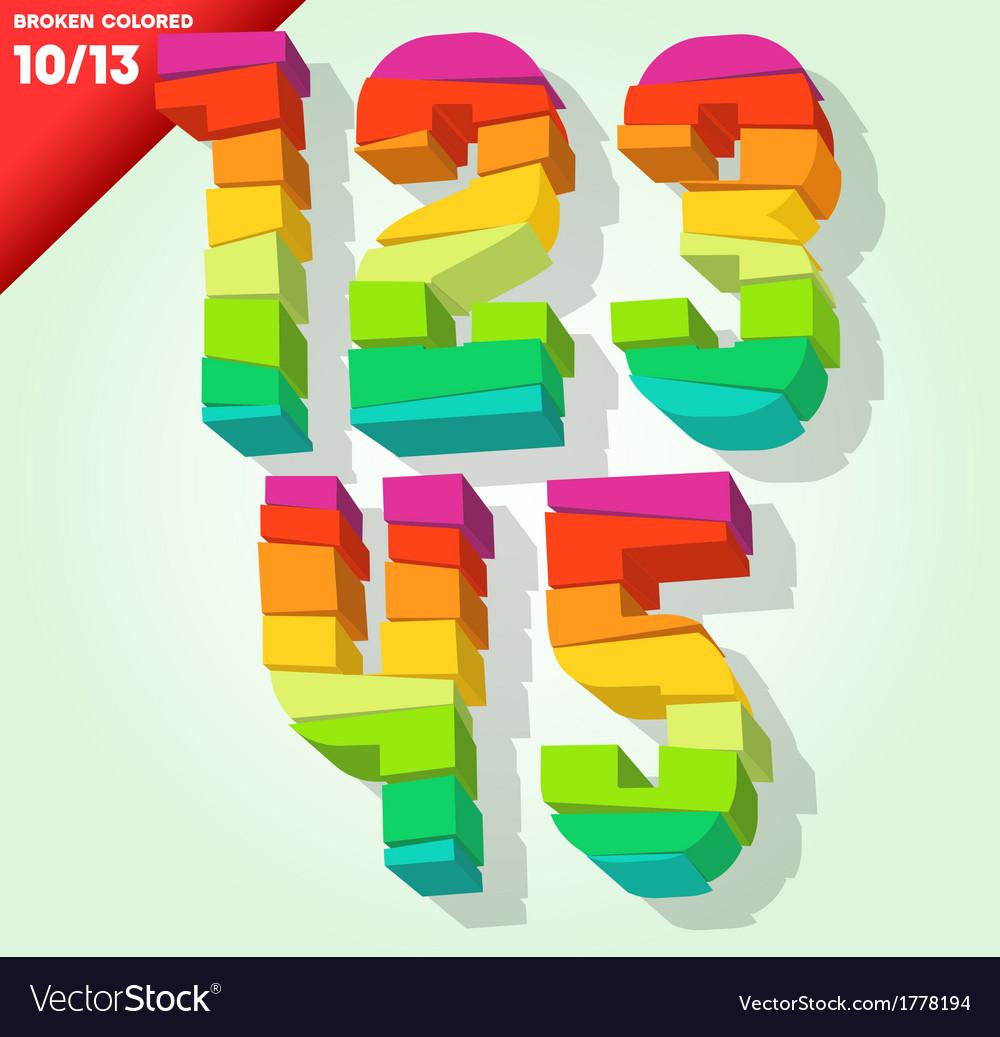 Broken colorful alphabet vector | Price: 1 Credit (USD $1)