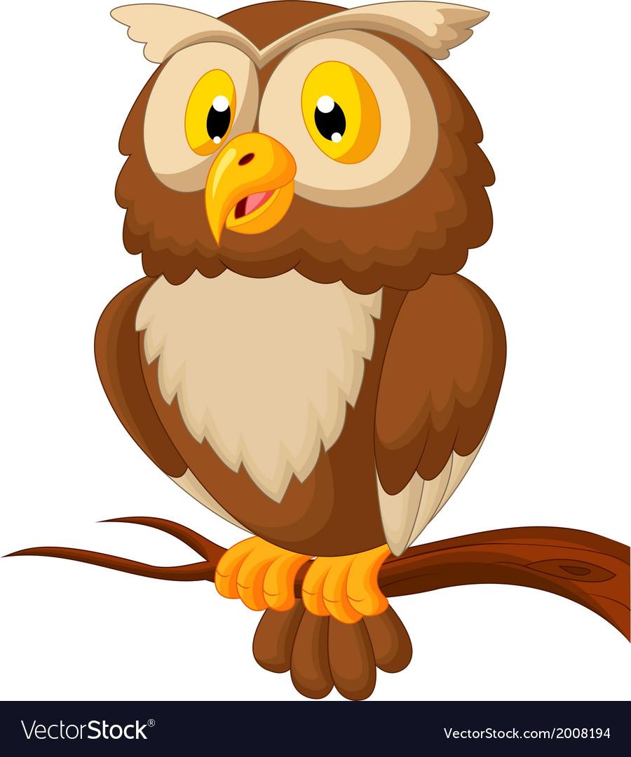 Cute owl cartoon vector | Price: 1 Credit (USD $1)