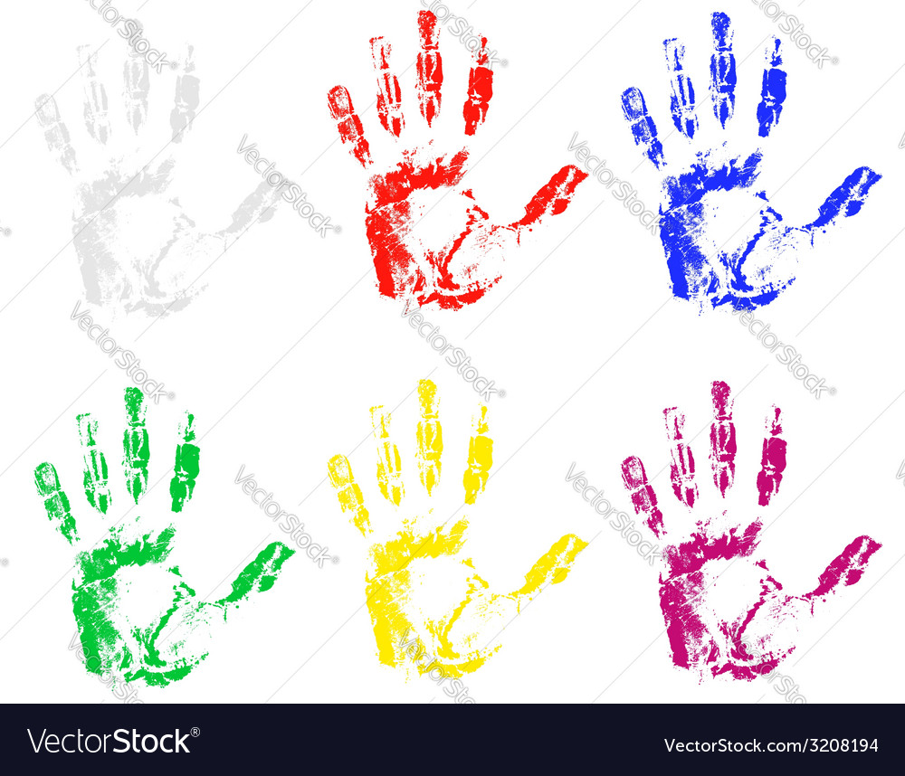 Handprint 03 vector | Price: 1 Credit (USD $1)