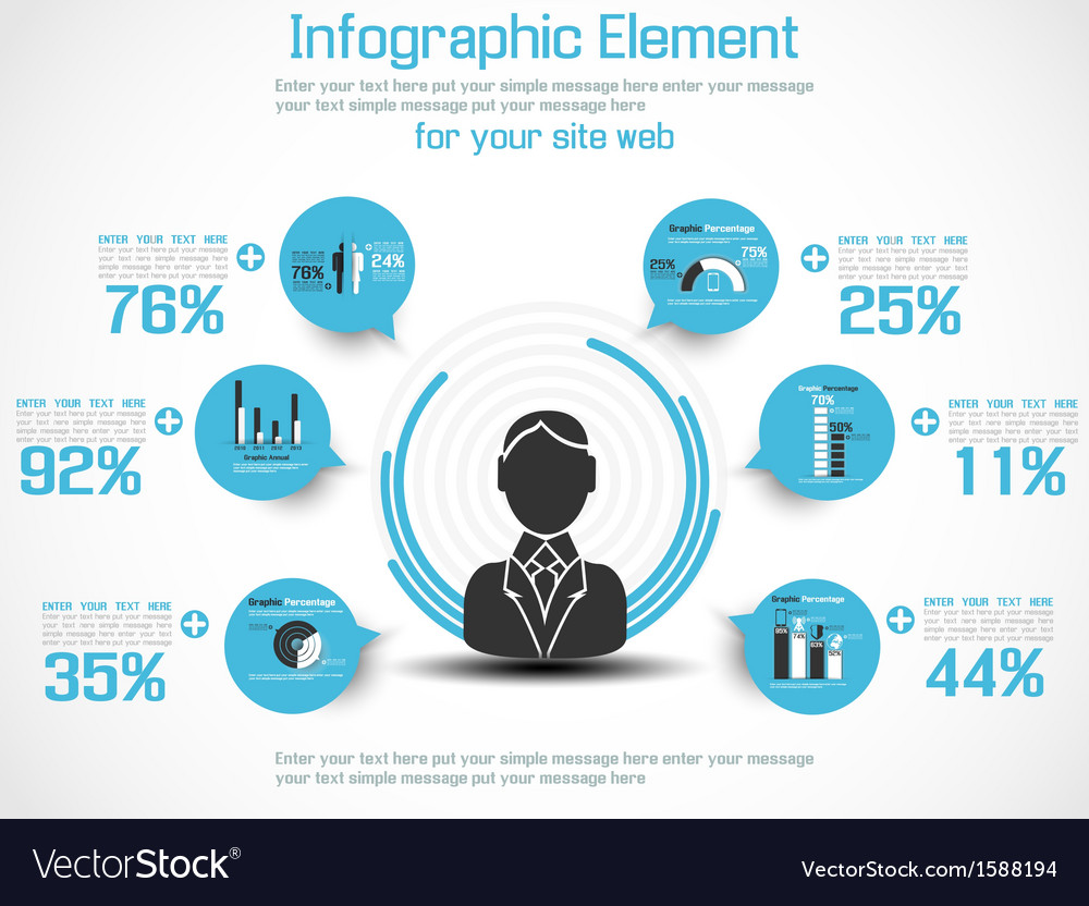 Infographic modern people business new style 2 vector | Price: 1 Credit (USD $1)