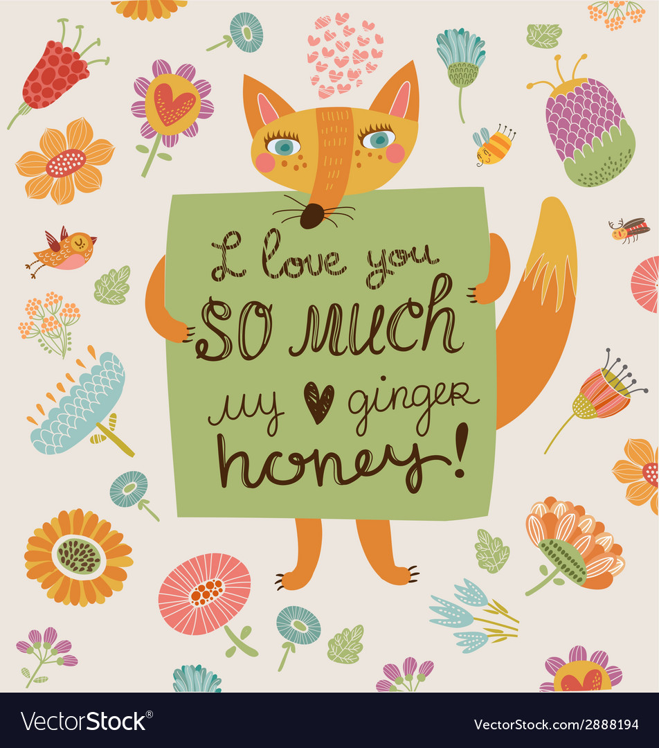 Loving foxy vector | Price: 1 Credit (USD $1)