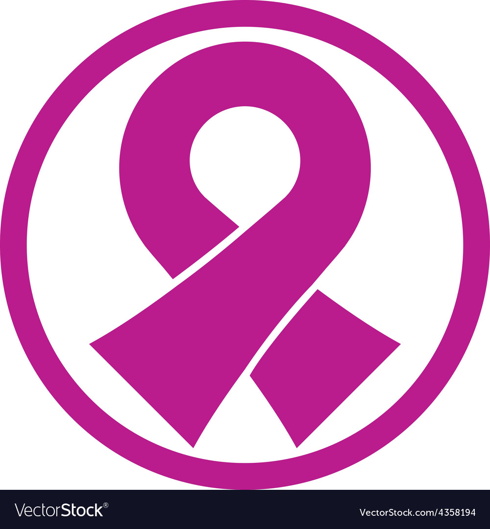 Pink cancer ribbon isolated on white background vector | Price: 1 Credit (USD $1)