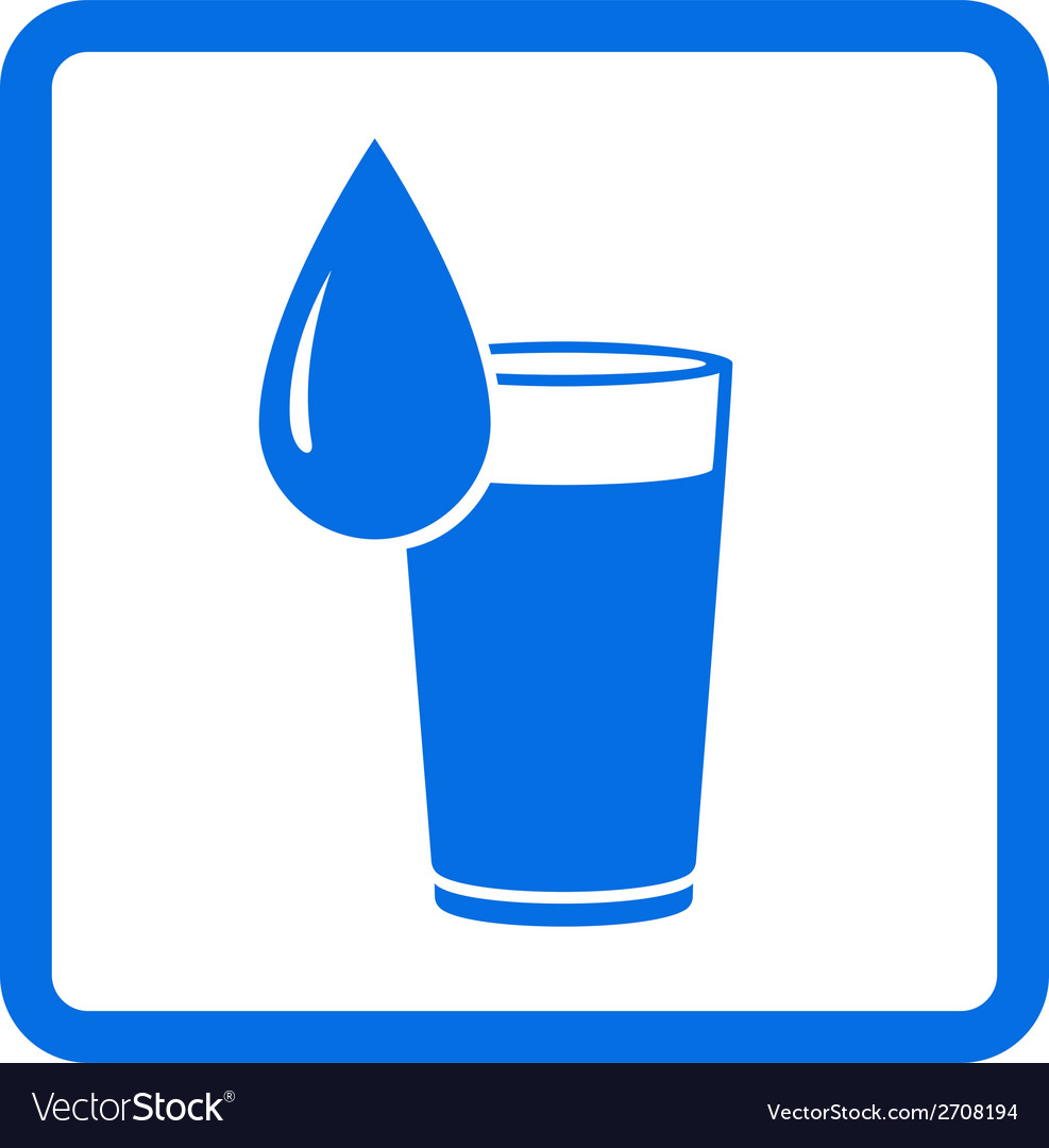 Water glass and drop vector | Price: 1 Credit (USD $1)