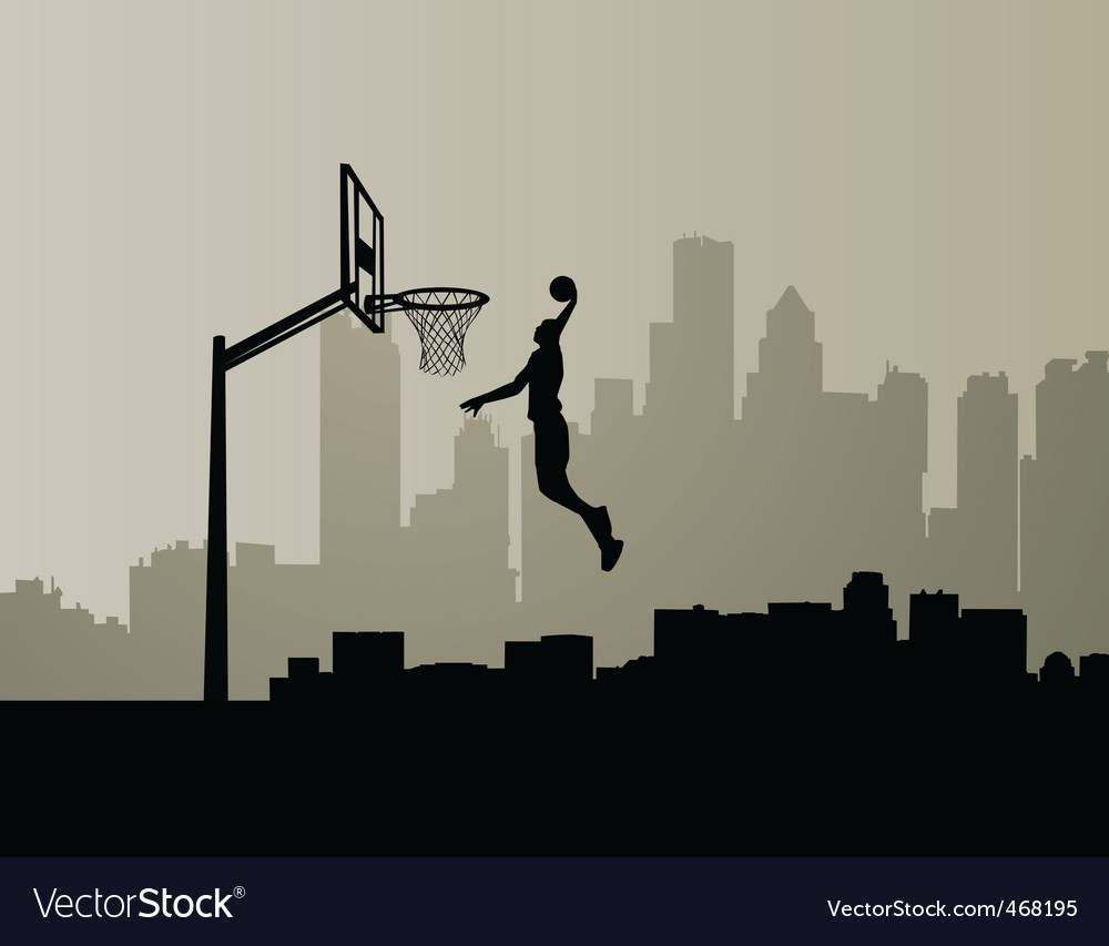 Basketball dunk vector | Price: 1 Credit (USD $1)