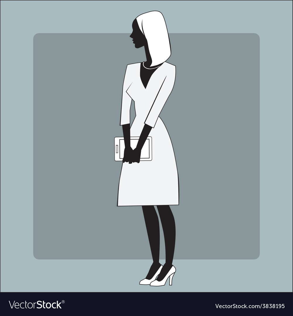 Businesswomen gadget office vector | Price: 1 Credit (USD $1)
