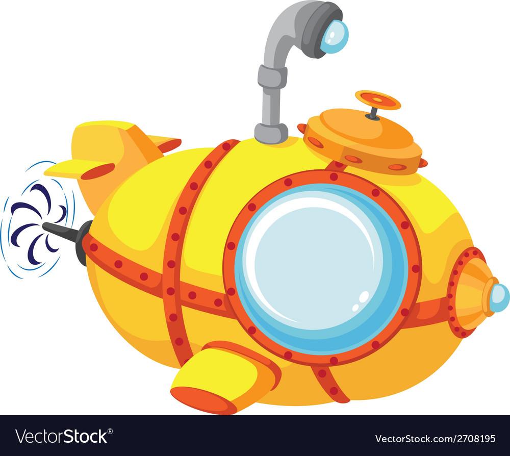 Cartoon bathyscaphe vector | Price: 1 Credit (USD $1)