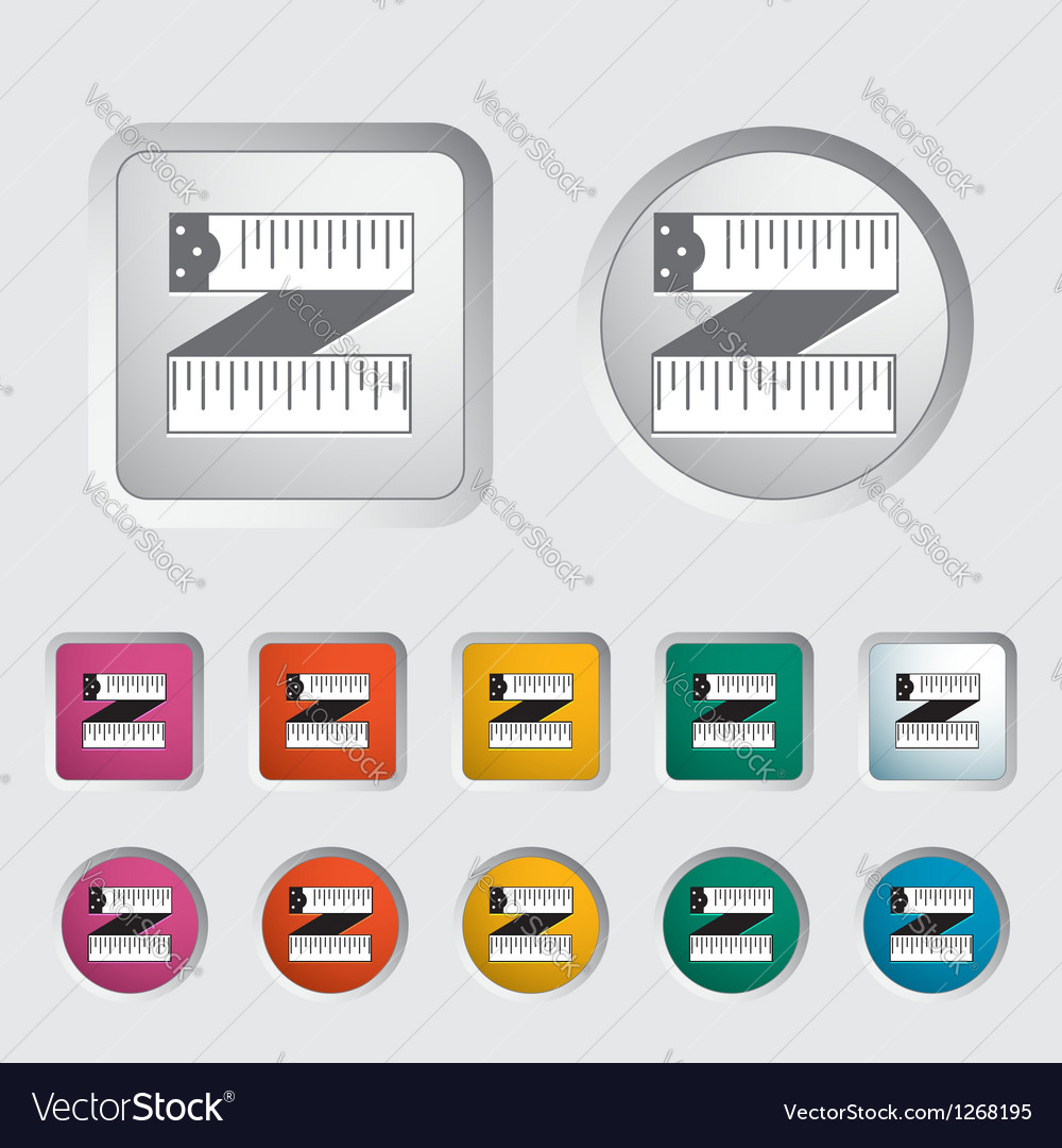Centimeter icon vector | Price: 1 Credit (USD $1)