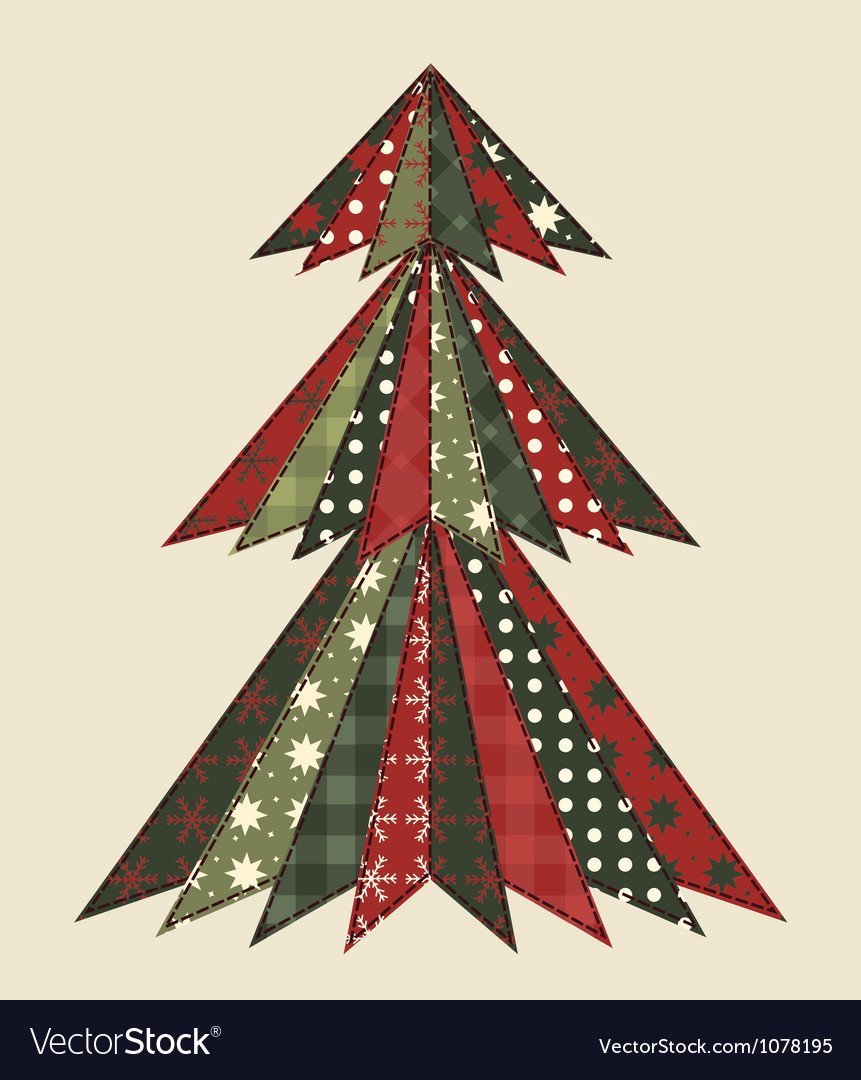 Christmas tree for scrapbooking 2 vector | Price: 1 Credit (USD $1)