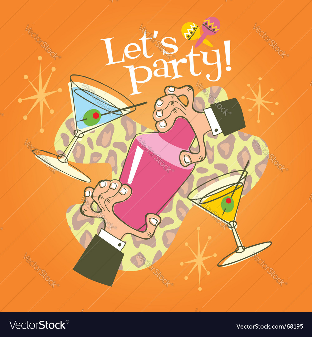 Cocktail party vector | Price: 1 Credit (USD $1)