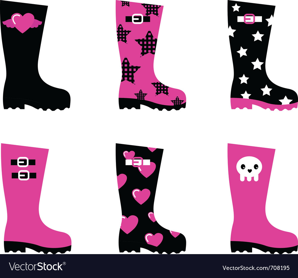 Emo rain boots vector | Price: 1 Credit (USD $1)
