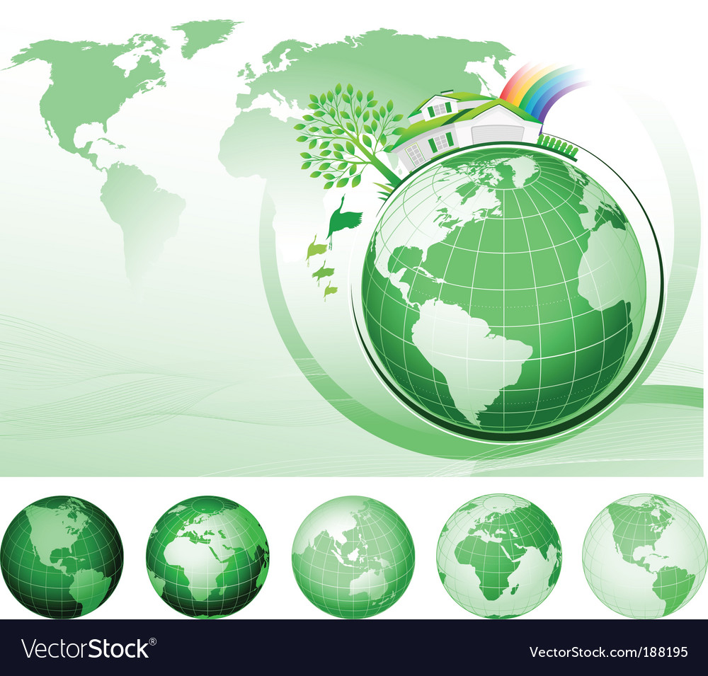 Global conservation concept vector | Price: 1 Credit (USD $1)