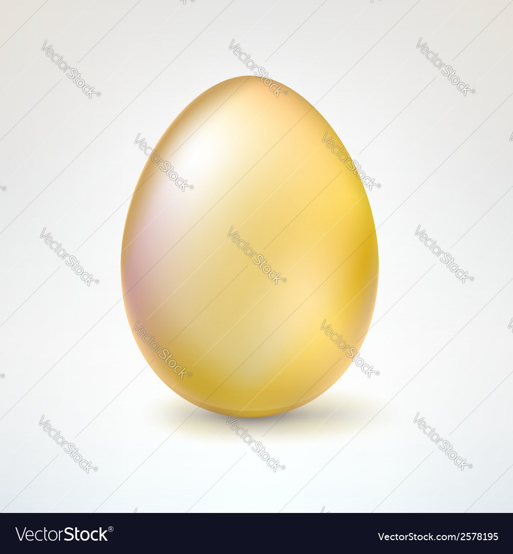 Golden egg isolated on white background vector | Price: 1 Credit (USD $1)